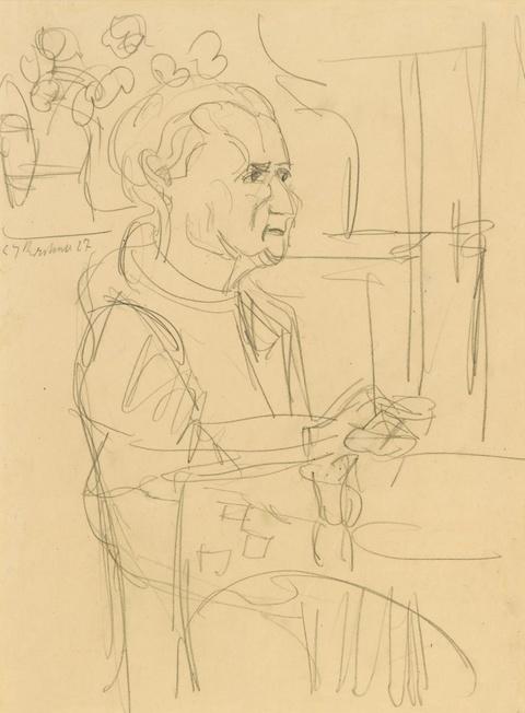 Ernst Ludwig Kirchner - Portrait Frau L. Bauer