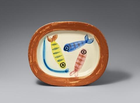 Pablo Picasso - Quatre poissons polychromiques