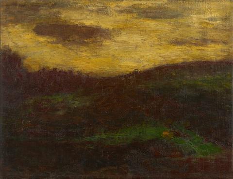 Christian Rohlfs - Hügelige Landschaft (Abendlandschaft)