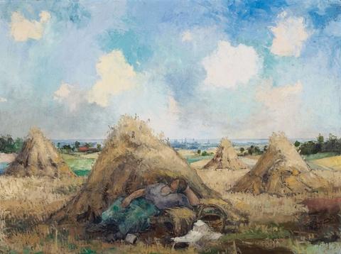 Eberhard Viegener - Ohne Titel (Bäuerin bei der Rast)
