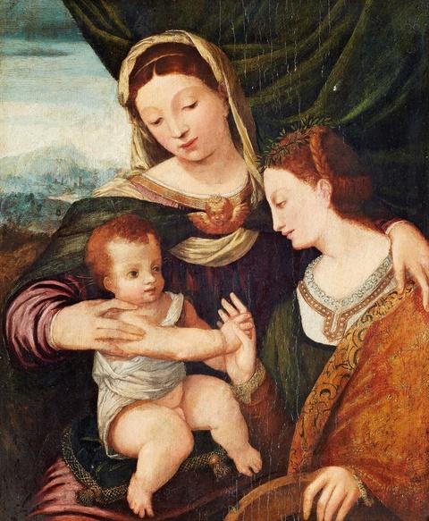 Venetian School, 16th century - The Mystical Marriage of Saint Catherine