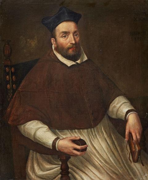 Venetian School, early 17th century - Portrait of a Bishop