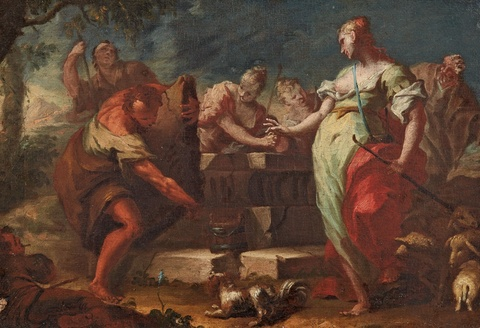 Venetian School, 18th century - Rebecca and Eliezer at the Well