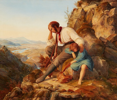 Carl Friedrich Lessing, attributed to - The Robber and his Child