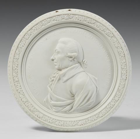 Medaillon mit Bildnis Johann Georg Grieninger -