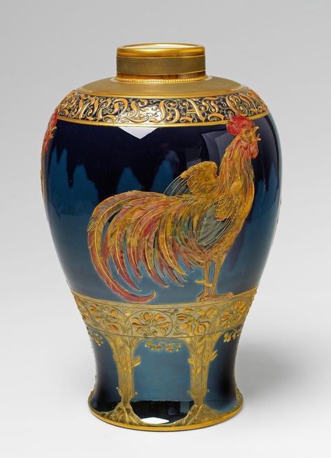 """Vase """"Morgenstund hat Gold im Mund"""" -"""