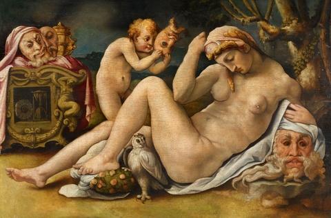 Michele Tosini, genannt Michele di Ridolfo del Ghirlandaio - Venus und Cupido