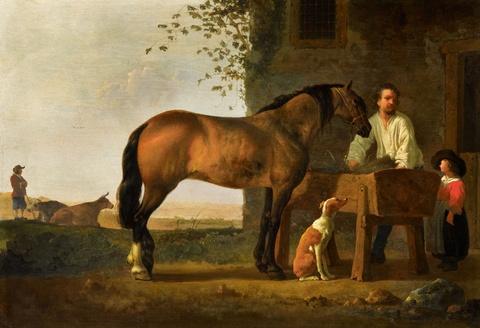 Aelbert Cuyp - Pferd an einem Trog