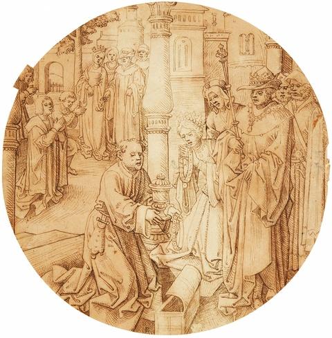 Aert van Ort, zugeschrieben - Szene aus dem Leben der Heiligen Elisabeth von Thüringen (?)
