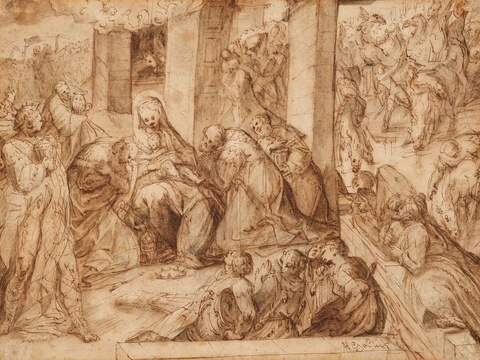 Master of the Egmont-Albums - The Adoration of the Magi