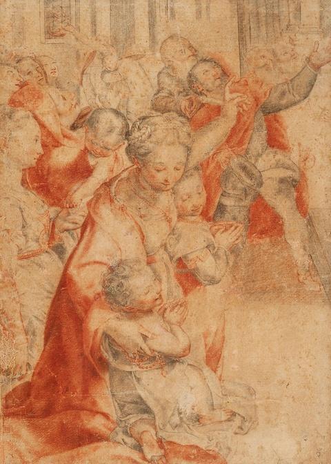"Federico Barocci, Nachfolge - Ausschnitt aus ""Madonna del Popolo"" in den Uffizien"