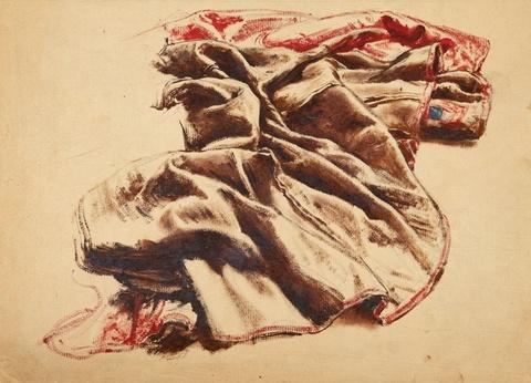 Franz Xaver Winterhalter - Gewandstudie in Rot und Braun
