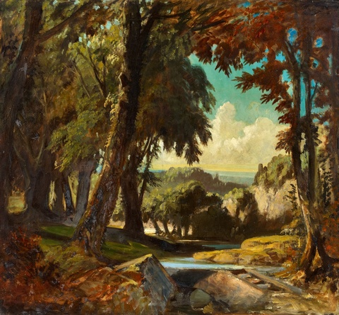 Carl Spitzweg - Romantische Landschaft / Bretonische Landschaft