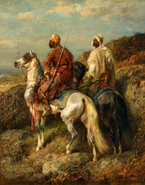 Adolf Schreyer - Two Arabian Riders