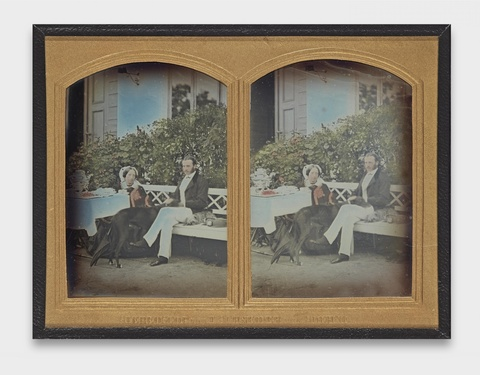 Wilhelm Schneider - Ehepaar beim Teetrinken im Garten, vermutlich Moskau