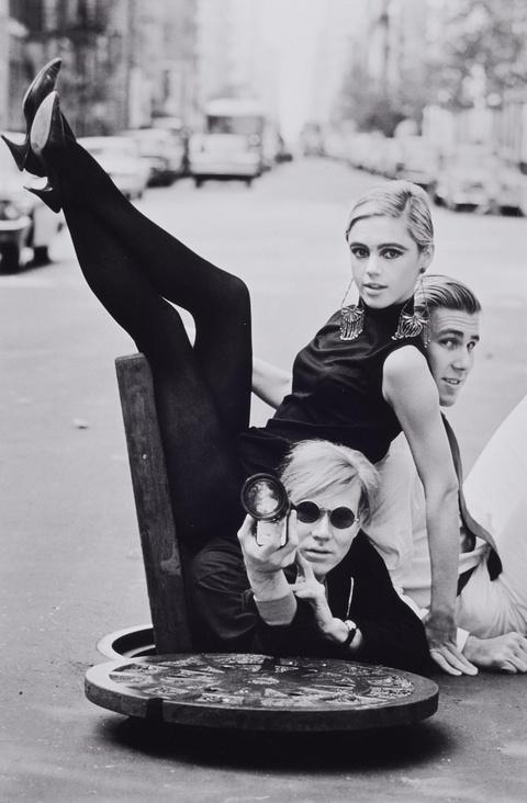 Burt Glinn - Andy Warhol with Edie Sedgwick and Chuck Wein, New York City