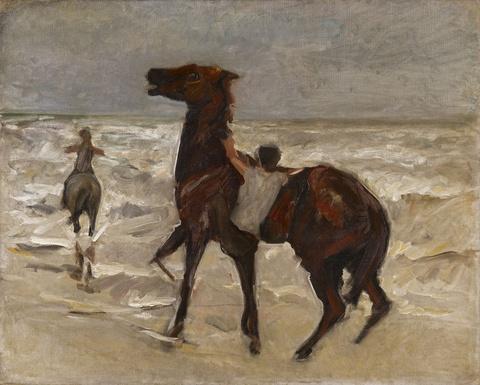 Max Liebermann - Pferdeknechte am Strand