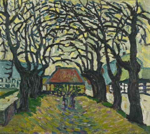 Wilhelm Morgner - Weg mit kahlen Bäumen