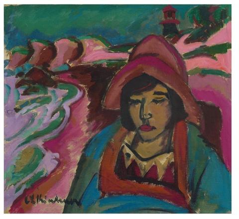Ernst Ludwig Kirchner - Mädchen in Südwester