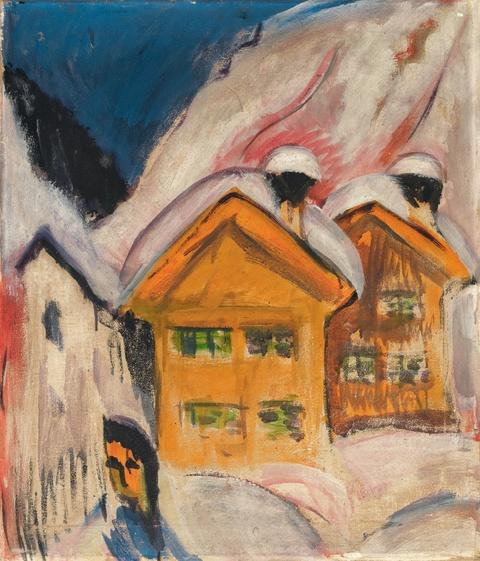 Ernst Ludwig Kirchner - Häuser im Schnee
