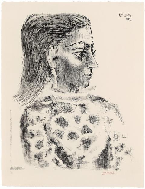 Pablo Picasso - Buste au corsage à Carreaux