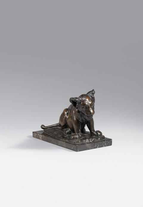 August Gaul - Sitzender junger Löwe (Dusselchen)