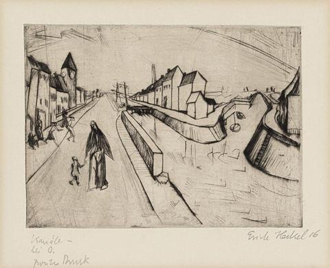 Erich Heckel - Kanal bei Ostende