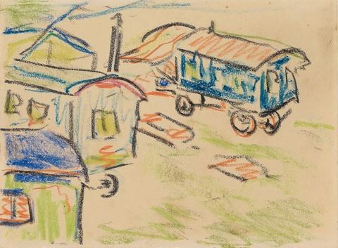 Ernst Ludwig Kirchner - Zigeunerwagen