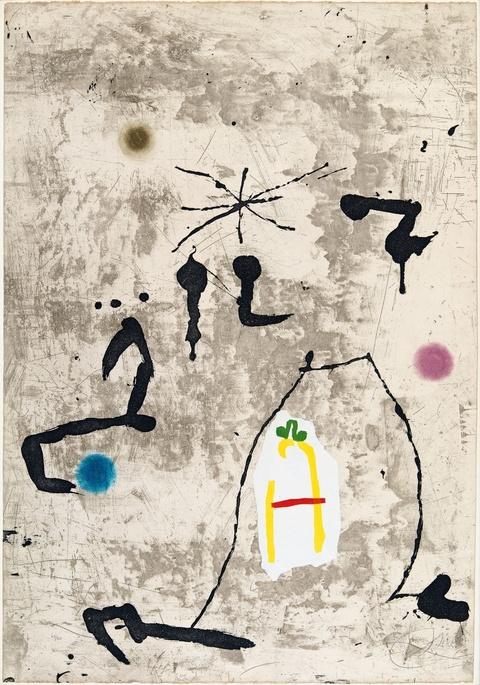 Joan Miró - Personatge I Estels V