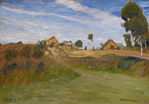 Otto Modersohn - Weg im Moor