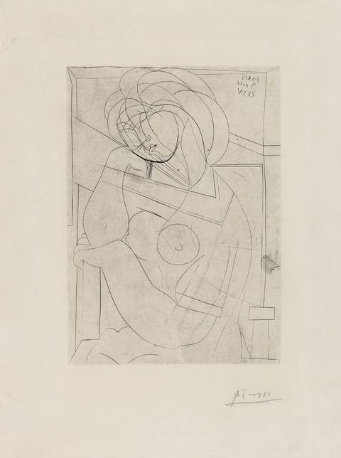 Pablo Picasso - Femme nu assise, la Tête appuyée la Main