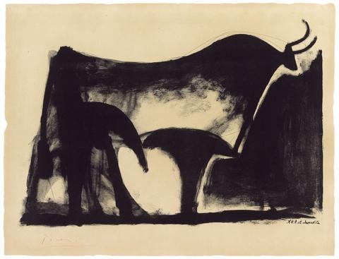 Pablo Picasso - Le taureau noir