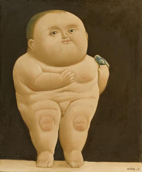 Fernando Botero - Niño con un pájaro