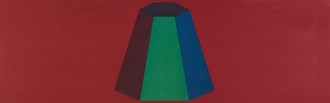 Sol LeWitt - Flat Top Pyramid with Colors Superimposed (Red)