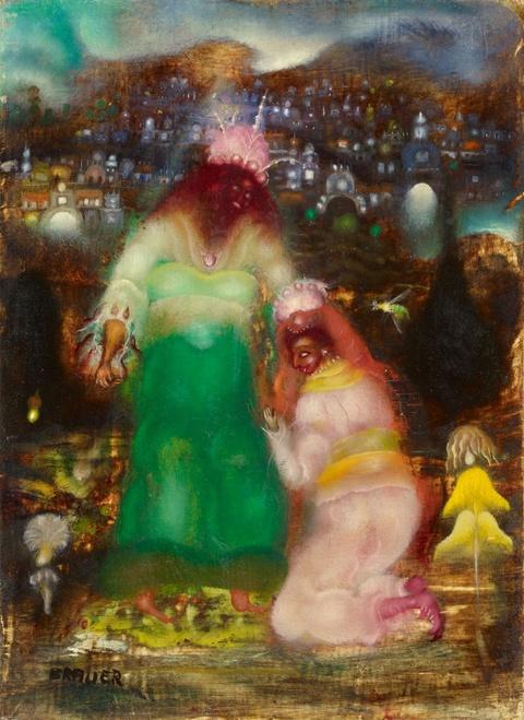 Arik Brauer - Salomon und die Königin von Saba