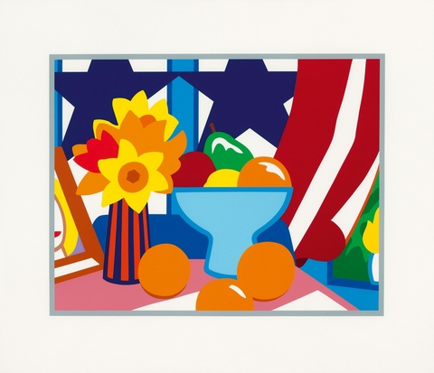 Tom Wesselmann - Still Life with Blowing Curtain (Red)