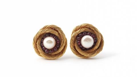 Paar Ohrclips von Robert Goossens für Chanel, 1960er Jahre -