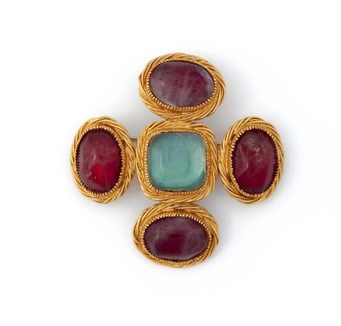 """Kreuzbrosche """"Byzance"""" von Robert Goossens für Chanel, Mitte 1960er Jahre -"""