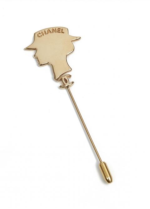 """Pin """"Silhouette de Coco"""" von Chanel, um 2004 -"""
