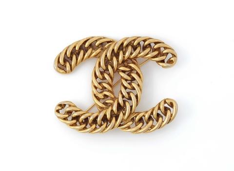 Brosche mit Logo von Chanel, 1982 -
