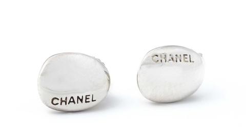 """Paar Ohrstecker """"Ligne argent"""" von Chanel, 2002. -"""