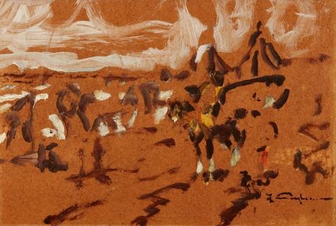 Julius Seyler - Blackfeet-Indianer zu Pferde