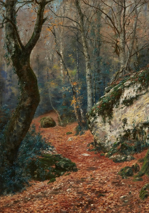 Johan Peter von Wildenradt - Foret de la Ste. Baume (Forest Landscape in the Massif de la Sainte-Baume near Marseille)