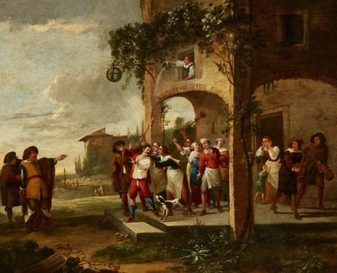 Peeter van Bredael - Two Scenes from the Life of the Prodigal Son