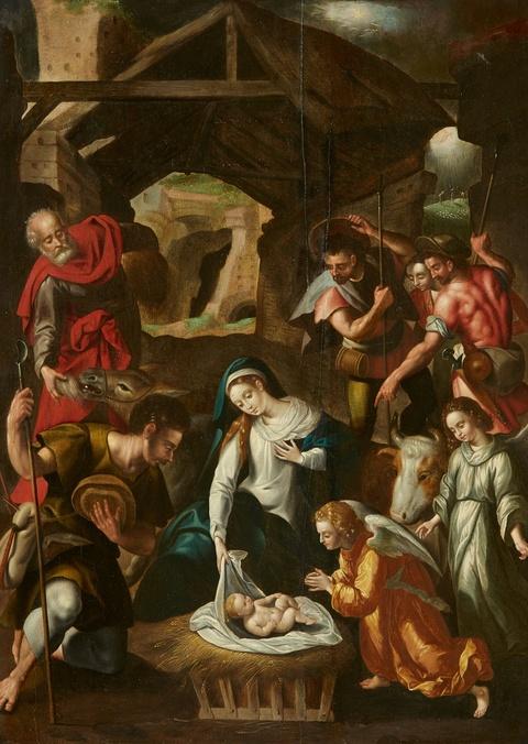 Süddeutscher Meister des frühen 17. Jahrhunderts - Anbetung der Hirten