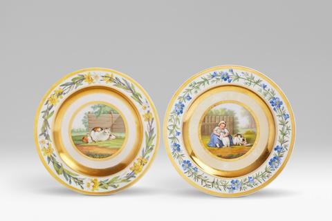 Zwei Teller für Prinz Carl -