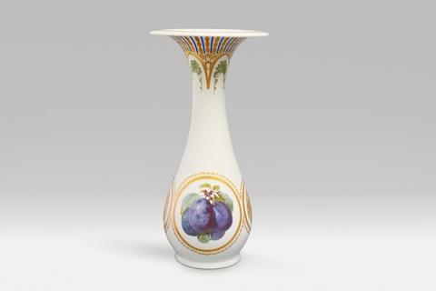 Vase mit Pflaumendekor -