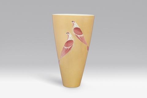 Vase mit ovaler Mündung -