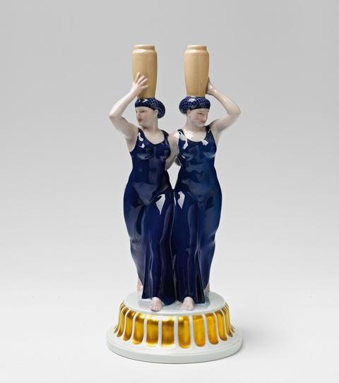 Zwei Griechinnen mit Vasen -