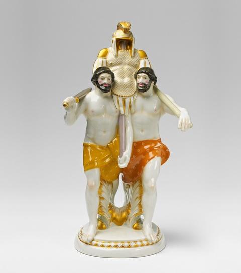 Zwei Etrusker mit Rüstung -